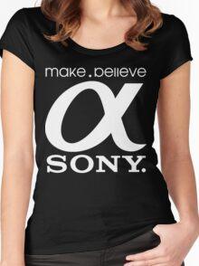 Sony Funny Geek Nerd Women's Fitted Scoop T-Shirt