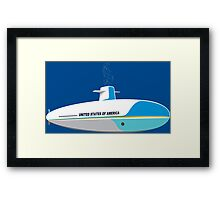 Submarine One Funny Geek Nerd Framed Print