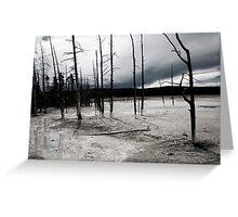 Desolate Landscape Greeting Card