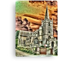 The Church in Lacock Village, Wiltshire Canvas Print