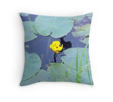 Yellow Waterlily Throw Pillow