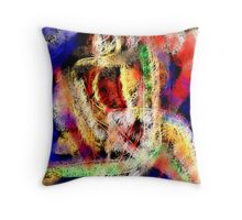 FEATHERED NUDE Throw Pillow