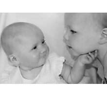 Sibling love.... Photographic Print