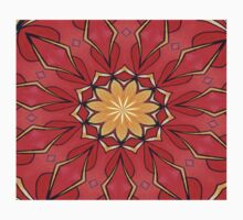 Ochre and Red Abstract Kaleidoscope Kids Clothes