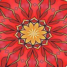 Ochre and Red Abstract Kaleidoscope by taiche