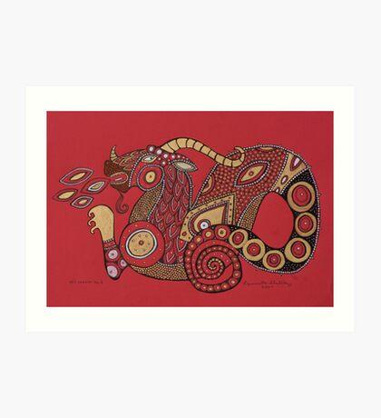 Red Dragon No. 5 Art Print