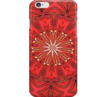 Red Bold Kaleidoscope Pattern iPhone Case/Skin