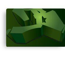 Green Letter B Canvas Print