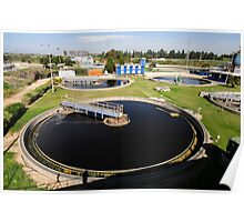 Sewerage treatment facility. The treated water is then used for irrigation and agricultural use Poster