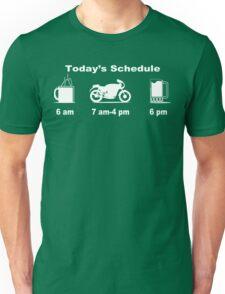 Today's schedule coffee 2 wheels and beer Funny Geek Nerd Unisex T-Shirt