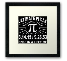 Ultimate pi day 2015 Funny Geek Nerd Framed Print