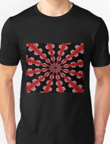 Red Black and White Abstract T-Shirt