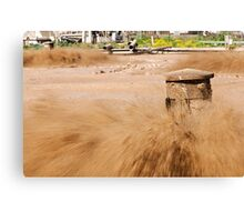 Sewerage treatment facility. The treated water is then used for irrigation and agricultural use Canvas Print