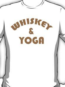 Whiskey & Yoga Funny Geek Nerd T-Shirt