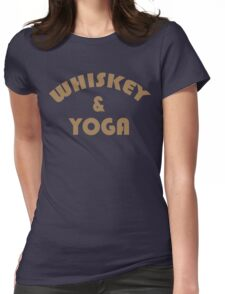 Whiskey & Yoga Funny Geek Nerd Womens Fitted T-Shirt