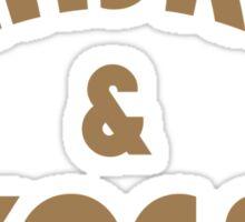 Whiskey & Yoga Funny Geek Nerd Sticker