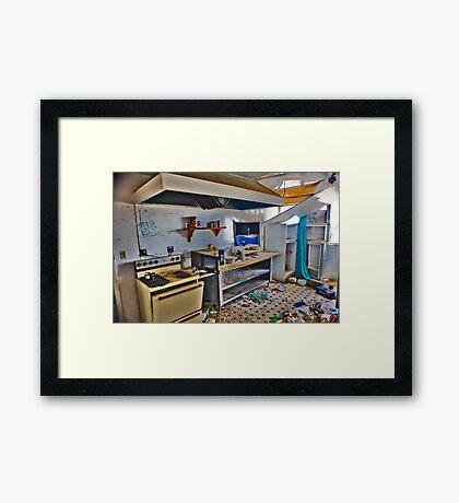 Teds Kitchen Framed Print