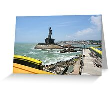 Thiruvalluvar Statue, kanyakumari, Tamil nadu, India Greeting Card