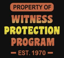 Witness Protection Program Funny Geek Nerd T-Shirt