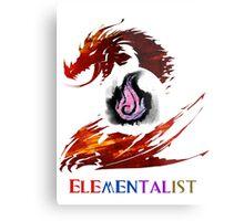 Guild Wars 2 Elementalist Metal Print