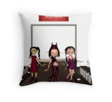 the 3 models Throw Pillow