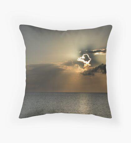Cayman Sunset Throw Pillow