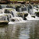 Jutting Rock Falls by Donna Adamski