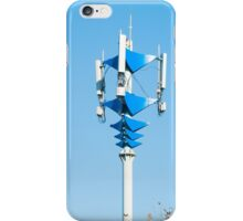 Blue and white Mobile Phone Communications Tower  iPhone Case/Skin