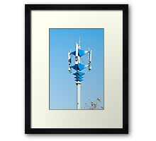 Blue and white Mobile Phone Communications Tower  Framed Print
