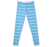 Blue and white Mobile Phone Communications Tower  Leggings