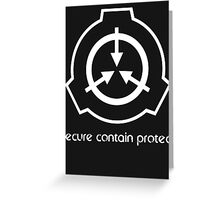 Secure Contain Protect Greeting Card