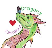 Dragons love Cupcakes! With words by Anuviel