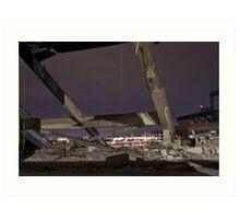 Shea Stadium Demolition Art Print