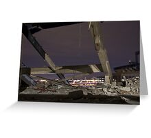 Shea Stadium Demolition Greeting Card