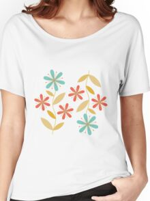 flowers everywhere/5 Women's Relaxed Fit T-Shirt