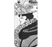 Vintage black and white victorian elegant lady  iPhone Case/Skin