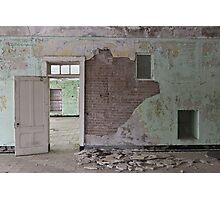 Abandoned crumbling hospital Photographic Print