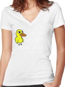 Duck Song Funny Geek Nerd Women's Fitted V-Neck T-Shirt