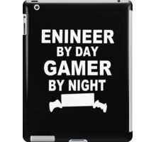 Engineer by day gamer by night Funny Geek Nerd iPad Case/Skin