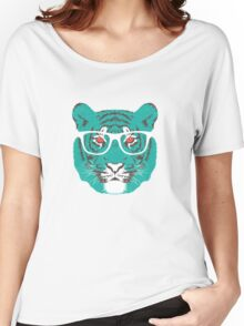 Bookish Big Cat Women's Relaxed Fit T-Shirt