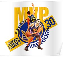 Stephen Curry #30 MVP Poster