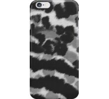 Vintage black white watercolor animal print iPhone Case/Skin