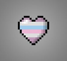 Intersex Pixel Heart by LiveLoudGraphic