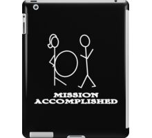 Mission Accomplished Funny Geek Nerd iPad Case/Skin