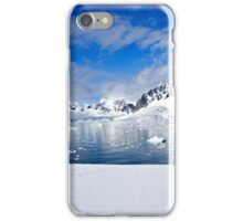 Icebergs and mountains of Cuverville Island near Antarctic Peninsula iPhone Case/Skin