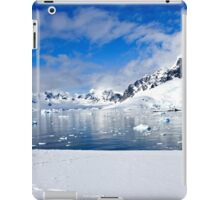 Icebergs and mountains of Cuverville Island near Antarctic Peninsula iPad Case/Skin