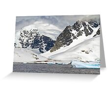 Landscape of Cuverville Island, Antarctica Greeting Card