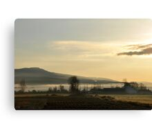 Morning at the Farm Canvas Print