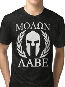 Molon Labe Grunge Spartan Funny Geek Nerd Tri-blend T-Shirt