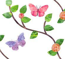 Butterfly Garden by mezzilicious
